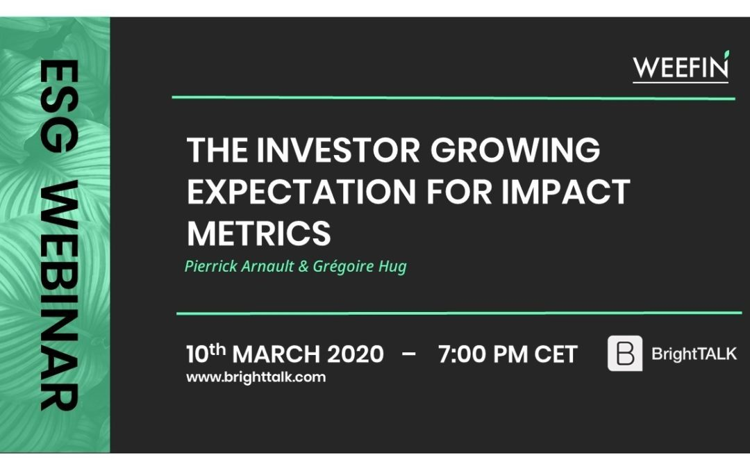 Webinar – The investor growing expectation for impact metrics