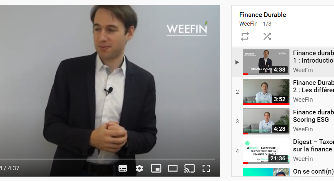 notre playlist sur la finance durable